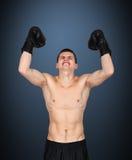 愉快的拳击手优胜者 免版税库存照片
