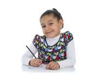 愉快的教育女孩 免版税图库摄影