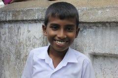 愉快的斯里兰卡的青年时期 库存照片