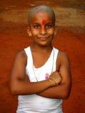 愉快的新印第安男孩 免版税库存照片