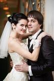 愉快的新娘和新郎容忍 库存图片