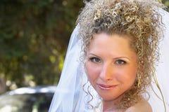 愉快的新娘 库存照片