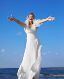 愉快的新娘 免版税库存图片