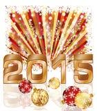 愉快的新的2015年明信片 库存图片