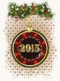 愉快的新的2015年纸牌筹码 免版税库存图片