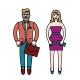 愉快的时尚夫妇 免版税库存图片