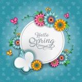 愉快的春天蝴蝶 向量例证
