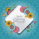 愉快的春天蝴蝶A 向量例证