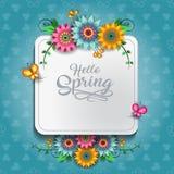 愉快的春天蝴蝶C 库存例证