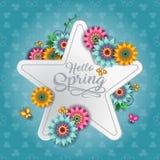 愉快的春天蝴蝶F 向量例证