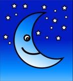 愉快的月亮 免版税库存照片