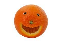愉快的桔子 免版税库存图片