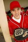 愉快的棒球运动员 免版税库存图片