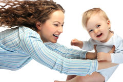 愉快的母亲儿子 免版税库存图片