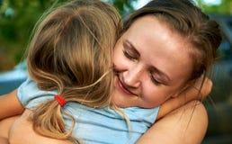 愉快的母亲和子项 图库摄影