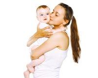 愉快的母亲和婴孩 免版税库存图片