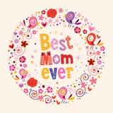 愉快的母亲节卡片最佳的妈妈  库存照片