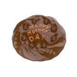 愉快的母亲节巧克力蛋糕 3d例证 免版税库存照片