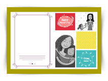 愉快的母亲节庆祝的贺卡设计 免版税库存照片