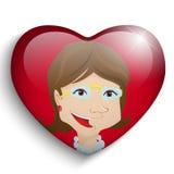愉快的母亲节心脏背景 库存图片