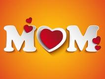 愉快的母亲节心脏背景 免版税库存图片