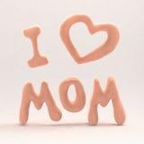 愉快的母亲节飞行被绘的信件 3d例证 库存图片