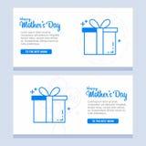 愉快的母亲节,假日背景 可以是用途待售广告 皇族释放例证