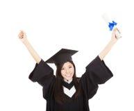 有程度的毕业生妇女 免版税图库摄影