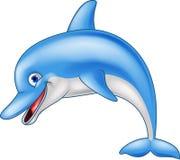 愉快的海豚动画片 库存例证
