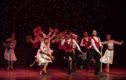 愉快的清洁队现代舞蹈 库存图片