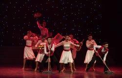 愉快的清洁队现代舞蹈 免版税库存图片