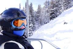 愉快的滑雪者 库存图片