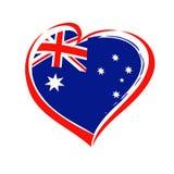 愉快的澳大利亚天字法和心脏象征 免版税库存图片