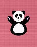 愉快的熊猫 库存例证