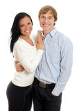愉快的爱恋的夫妇。 免版税库存图片