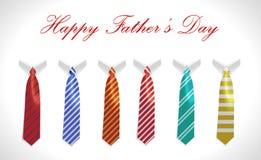愉快的父亲节、贺卡与外套和领带集合 皇族释放例证