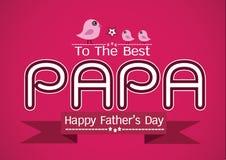 愉快的父亲节卡片、爱爸爸或者爸爸 皇族释放例证
