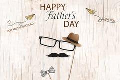 愉快的父亲节模板贺卡 您是最佳的爸爸 父亲节横幅,飞行物,邀请,祝贺或 图库摄影