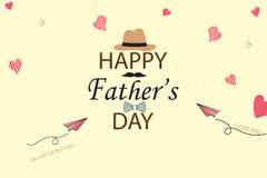 愉快的父亲节模板贺卡 您是最佳的爸爸 父亲节横幅,飞行物,邀请,祝贺或 免版税库存图片