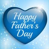 愉快的父亲节蓝色心脏背景 免版税库存图片