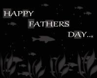 愉快的父亲节鱼招呼的Notecard 免版税图库摄影