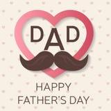 愉快的父亲节贺卡 愉快的父亲节海报 爸爸我爱你 向量 免版税库存图片