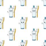 愉快的牙膏 r 在白色隔绝的简单的平的传染媒介例证 库存例证