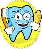 愉快的牙 免版税库存图片