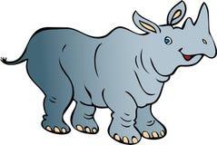 愉快的犀牛 免版税图库摄影
