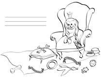 愉快的狗扶手椅子 库存照片