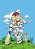 愉快的玩板球者 免版税库存图片