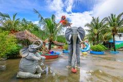 愉快的理想国主题乐园风景在博拉凯海岛 图库摄影