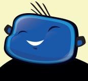 愉快的男孩蓝色,例证 免版税库存照片