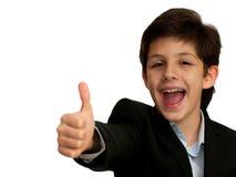 愉快的男孩非常 免版税库存图片